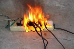 Electrical emergency - trailing sockets on fire