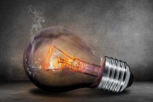 electrical maintenance smoking lightbulb